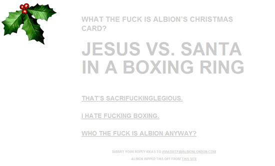 Albion: What the Fuck is Albion's Christmas Card?